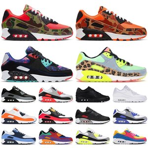 New 90 men women running shoes Reverse Duck Camo Total Orange Dancefloor Green Supernova Recraft Royal mens trainers outdoor sports sneakers