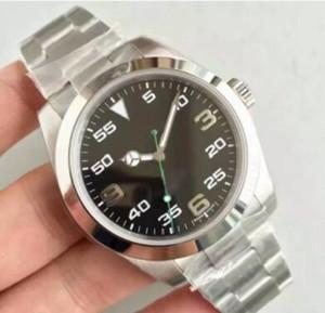 2020 Luxury Brean Мужские часы Механические нержавеющей стали черный циферблат оригинальный ремень EXP Автоматическое движение 116695 Спортивные мужские часы 6320