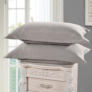 Açık Mavi Renk Yastık Kılıfları Katı Renk% 100 Polyester yastık kılıfı Kısaca Stil Yastık Kılıfı 1 Adet 48cm * 74cm