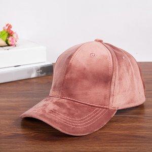 Solide Couleur Hip Hop Casual Chapeau jeunesse extérieur Pare-soleil Pare-soleil Velvet Shade Casquettes de base-ball de la femme