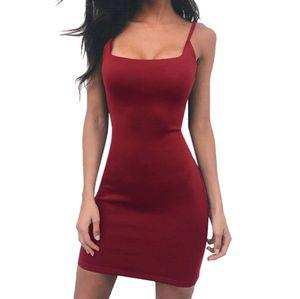 2019 Summer Women Black Dresses Spring Solid Black Sexy Spaghetti Strap Mini Short Tight Party Club Dress Women Female#es