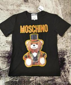 19ss Kadınlar Tasarımcı T Shirt tarzı Bayan Teddy bear Tops Tam elbise Mektup t-shirt Rahat Kısa Kollu O Boyun Kadın Giyim
