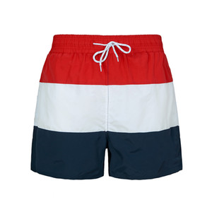 Embroidered Mens Brand Shorts 6 Colors 2019 Colorful Striped Board Shorts Tom Man Designer Beach Wear Casual Drawstring Summer Pants