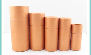 50 unid 10/20/30/50/100 ml botella de aceite caja de embalaje tubo de papel kraft caja de embalaje cuentagotas botella redonda cartón lápiz labial Perfume