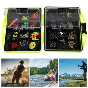 160pcs box Fishing Accessories Kit Including Jig Hooks fishing Sinker weights Swivels Snaps with tackle box