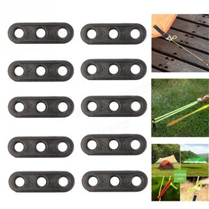 20шт черный кемпинг палатки веревки крепления Guyline натяжитель замка 3 отверстия tensioner веревочки кемпинг аксессуар