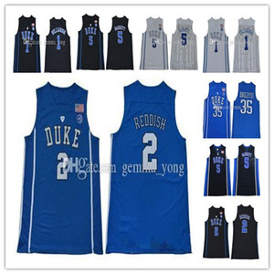 Les hommes de broderie Duke Blue Devils College Basketball 1 Zion Williamson 5 RJ Barrett 2 Cameron rouquine Kyrie Irving 35 Bagley III Cheap Jerseys