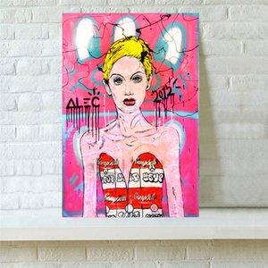 Alec Monopolys TWIGGY КЕМПБЕЛЛ ПЛАТЬЕ, Холст Pieces Home Decor HD Печатный Современное искусство Живопись на холсте (Unframed / Framed)
