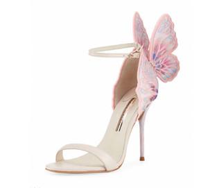 Sophia Webster 2019 yaz moda yeni kelebek ayak bileği kanat stiletto topuk sandalet seksi parti brdal boyutu 35-42