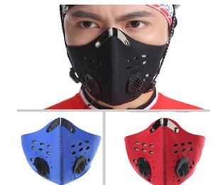 Negro máscara de protección Máscaras de bicicletas Media cara anti-polvo respirable de la mascarilla del carbón activado Ciclismo Running Máscara de bicicletas 10 piezas