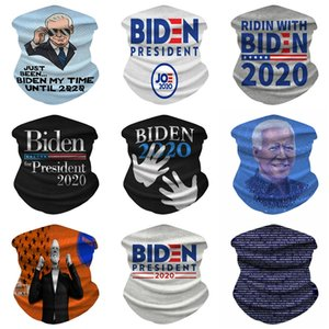 Square Biden máscara máscaras elegante Cabeza cuellos pequeños flaco artificial de seda satinada Biden venda del lazo del pelo suave del paño de la cara 39 Diseños W # 695
