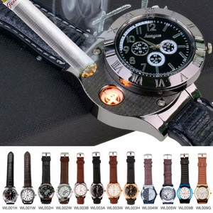Fashion Rechargeable USB watch Lighter Top  Relogio Masculino Waterproof Flameless Cigarette Lighter Watches men 00