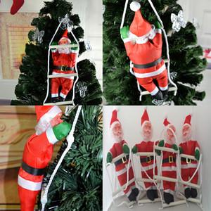 Weihnachtsmann Dekor Weihnachtsbaum Hängen Weihnachtsdekoration für Festival Party 25cm Santa Claus mit Leiter DHL Freies Verschiffen Da090