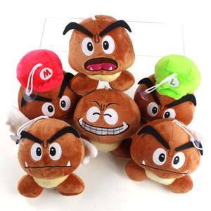 6 шт. / лот мультфильм аниме Super Mario Bros Goomba плюшевые игрушки мягкие животные Гриб подвески куклы детские дети подарок на День Рождения