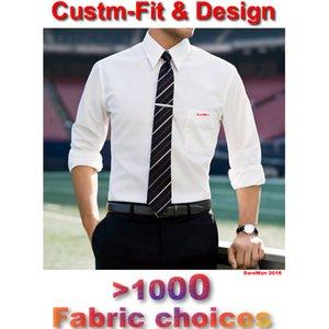 Tailored Mens Dress Shirts 2018 Custom Made White Long Sleeve Mens Dress Shirt Wedding Men dress shirt