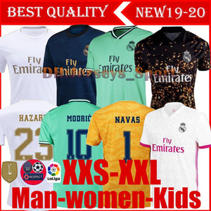 19 20 Madrid reale calcio Jersey Benzema JOVIC Modric Rodrygo Sergio Ramos PERICOLO 2019 2020 uomo adulto e bambini kit sport Calcio camicie