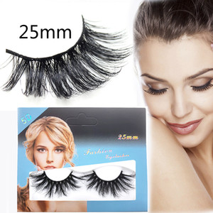 5D Mink False Eyelashes 25MM Sexy Super Thick Long Handmade 3D Mink Lashes Individual Eyelash Extensions