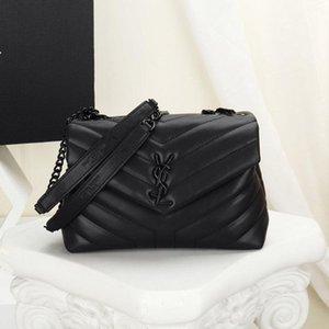 Горячие женщины мини сумки черная кожа Loulou toy bag флип сумки посыльного с золотой серебряной металлической цепью Сумка женская дизайнерская вечеринка