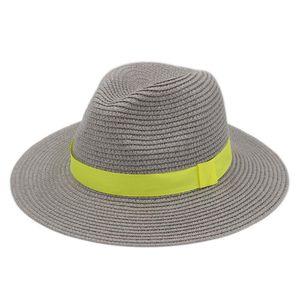 Mistdawn Sommer-Strand-Party im Freien Strasse Sonnenhut Panama-Jazz-Hut Plastic Straw Weit Floppy Brim Chapeau Gentleman Top Cap