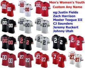 Staat Ohio-Rosskastanien Jerseys Zach Harrison Jersey Meister Teague III CJ Saunders Jeremy Ruckert College Football Jerseys Benutzerdefinierte genähtes