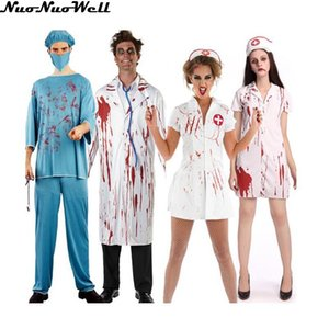 New Adult Bloody Costume Women Cosplay Uniform Hot Sale Halloween Carnival Fancy Dress Party Decor