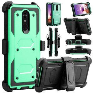 Pour Alcatel IDOL4 FIERCE4 A30 PLUS TRU A30 3V (2019) Defender Holster Clip ceinture Béquille de protection anti-choc Heavy Duty Phone Case Cover