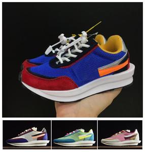 дизайнер малыш Sacai X LDV вафельный Рассвете кроссовки Кроссовки Кроссовки дети Дети Мальчики Девочки Chaussures Enfants Спортивная обувь размер 2