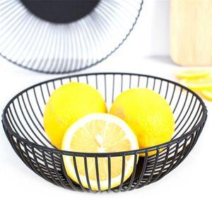 Nordic Creative Minimalist Fruit Basket Living Room Creative Fruit Drain Basket Home Iron Fruit Bowl Storage Basket(S)