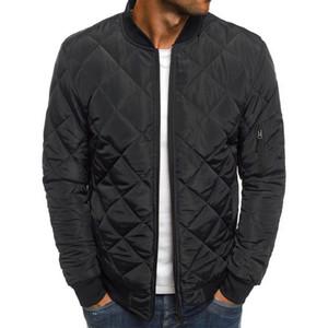 CYSINCOS мужские Slim Fit Теплое пальто осень зима 2019 Мужчины Легкий ветрозащитный Packable куртка Solid Color Jackests Outwear