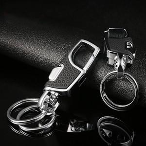 Luxo Cadeia Titanium Men Belt Car Key criativa Ultra Leve EDC cintura Hanging titular chaveiro Keychain Buckle melhor presente