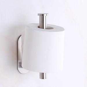Самоклеющиеся для туалетной бумаги Держатель из нержавеющей стали Рулон ручки на бумаге Кухня Ванная стена Туалет хранения держатель