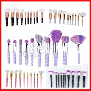 10pcs kit de pinceaux de maquillage coloré maquillage pinceau pour les sourcils / fard à paupières / kits de maquillage correcteur 5 type pinceau de maquillage