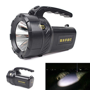 Portable LED Flashlight Lanterna AC Rechargeable Torch Outdoor Camping Light Spotlight Searchlight Lanternas Hand Work Lamp