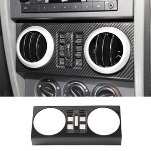 Car Windows Switch Button Decoration Frame Carbon Fiber For Jeep Wrangler JK 2007-2010 4doors car Interior Accessories