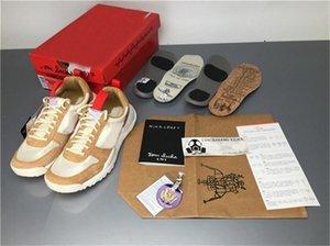 Tom Sachs x Craft Mars Quintal 2.0 TS Joint limitada Sneaker melhor qualidade Natural Vermelho esportivo bordo corrida Authentic Shoes com caixa original