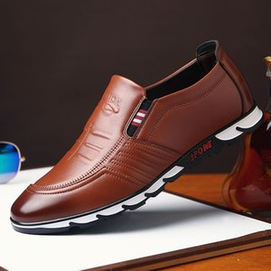 Men's casual shoes classic business office shoes breathable waterproof fashion design leather men's