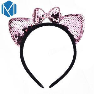M MISM New Mode 1 PCS Hoop cheveux mignon Paillettes pour enfants Bandeaux Bling Lovely Girls bowknot Coiffe 6 couleurs
