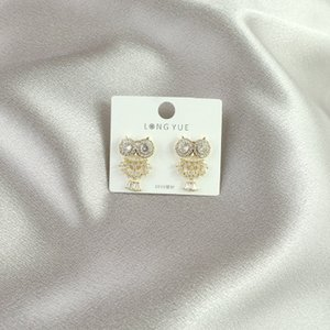 New European And American Style Sweet And Cute Animal Earrings Selling Micro Inlaid Sparkling Zircon Silver Pin Earrings