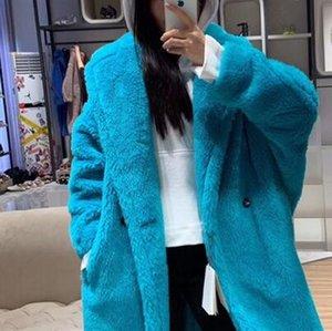 100% Alpaca abrigo de piel Real mujeres traje de invierno Collar largo naturaleza oso de peluche abrigos de piel abrigo femenino genuino pieles chaqueta