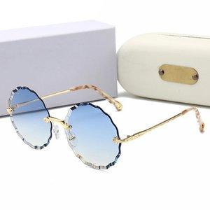 Luxury Rimless Sunglasses Women Brand round Trimmed Eyewear Metal Frame Sun Glasses Female UV400