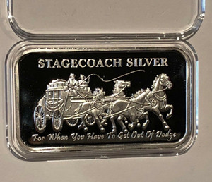 Stagecoach Silver Bar America One Ounce 999 Fine Silver Plated Coin Bars Stagecoach Silver Bar Free shipping