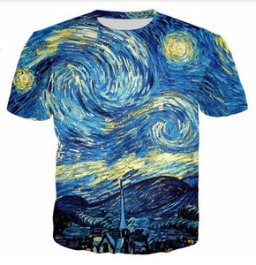 New Fashion Mens / Womans Summer Style Abstract multicolore Canvas Casual T-shirt 3D stampato unisex Abbigliamento di buona qualità O Neck Tee Shirts