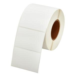 1000 pcs / lot 80 * 40mm simple rangée carrée vierge coloful diect imprimer code-barres papier thermique auto-adhésif autocollant étiquette injecter l'autocollant de l'imprimante