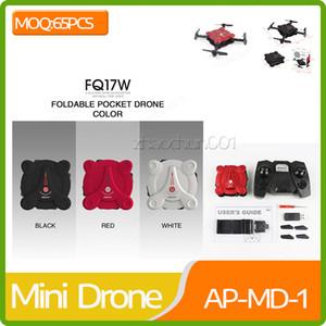 Atacado FQ777 FQ17W 2.4G 6 Eixos Gyro Mini RC Drone Com Câmera 0.3MP Wi-Fi FPV Dobrável RTF RC Quadcopter Altitude Hold Modo Headless