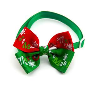 도매 눈송이 넥타이 개 Bowtie 가변 고양이 개 넥타이 휴일 장식 크리스마스 용품 애완 동물 용품 나비 넥타이 BC BH0530