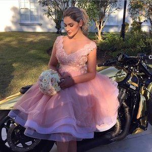 Customise Country Short Bridesmaid Dresses Lace Top V Neck Tiered Skirts Maid Of Honor Gowns Plus Size Wedding Guest Dress