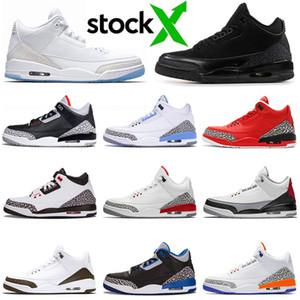 أعلى 3 3S أحذية الرجال لكرة السلة للشباب سول نيكس ينافس الأبيض النقي الأسود اسمنت القط كاترينا أولي المدربين حجم 7-13