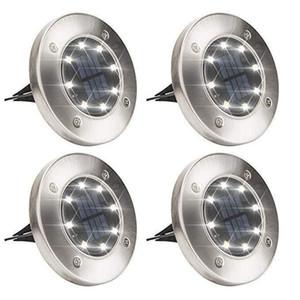 Solar luzes de terra 8 LED Solar Enterrado Luz IP65 lâmpadas subterrâneas para Path Outdoor Way Jardim Decking Lawn