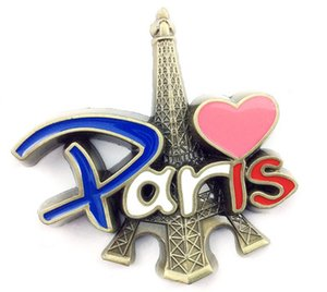 Metal Cor Gota de Óleo Esmalte Paris Torre Geladeira Adesivos Publicidade Pequenos Presentes Brindes Promocionais Lembranças de Viagem