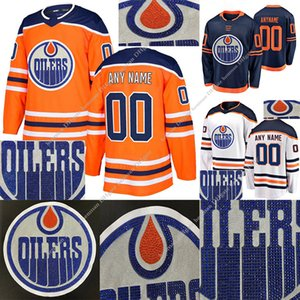 Edmonton Oilers Hot drilling version jerseys 97 Connor McDavid 74 Ethan Bear 99 Wayne Gretzky Customize any number any name hockey jersey